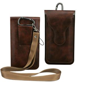 كبير الأنف نمط ، 2 طبقة التوصيل حقيبة الخصر حقيبة جلدية الحافظة مع حزام حلقة / حلقة تسلق ل Iphone 8plus 7 / 6s 5 .5inch Galaxy Note5
