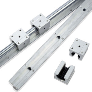 2pcs SBR25-1400mm guidage linéaire / rail + 4pcs SBR25UU paliers linéaires pour pièces de routeur cnc