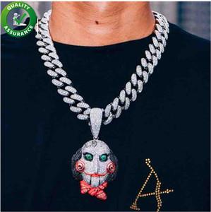 Hip hop jewelry mens gold chain pendants luxury designer iced out pendant brand pandora style charms diamond 6ix9ine cuban link necklaces
