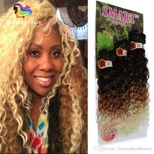 رخيصة الاصطناعية لحمة الشعر جيري مجعد موجة عميقة فضفاضة موجة 6 حزم الكثير أومبير الأرجواني علة عنابي اللون نسج حزم المملكة المتحدة