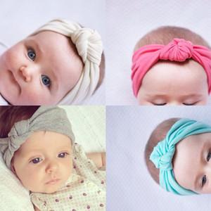 Bebê recém-nascido Meninas Algodão Elastic Headbands Infantil Crianças Nó Faixas de Cabelo Headbands Crianças Headwear Acessórios Para o Cabelo