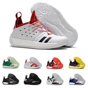 Kutu ile James Harden Vol. 2 Basketbol Ayakkabı Erkekler Için Moda Siyah Beyaz Kırmızı Yeşil Turuncu Mavi Gri Kahverengi Şarap Spor Sneakers