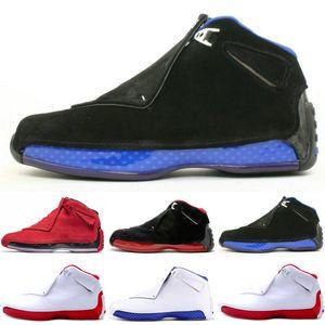 Hot New 18 18s Mens Scarpe da Basket Toro OG ASG Nero Bianco Rosso Bred Royal Blue Sport Sneakers da ginnastica outdoor designer