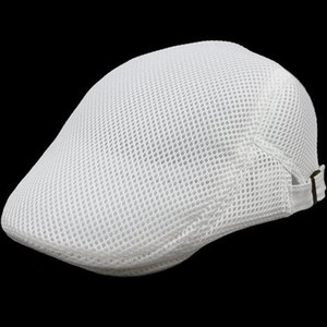 Herren Cool Beret British Style Sommer Hollow-out Newsboy Cap Gasby Sanfte Ivy Caps Net Cap Männer und Frauen Mesh Hollow Beret