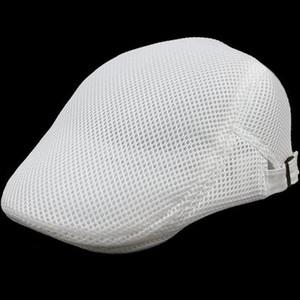 Мужская прохладный берет британский стиль лето выдалбливают Газетчик Cap Gasby нежный плющ Caps Net Cap мужчины и женщины сетки полые берет