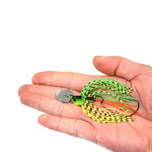 Джиг приманки Buzz Bait Spinnerbaits спиннеры джиг Глава 10 г 5 шт. юбки крюк металлические рыболовные приманки