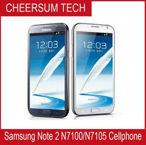 مقفلة الهاتف الأصلي ملاحظة سامسونج غالاكسي الثاني 2 N7100 3G N7105 4G 8MP كاميرا رباعية النوى 2GB RAM GSM 3G 5.5 تعمل باللمس '' تجديد الهاتف
