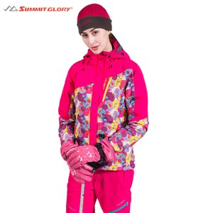 Women's Skiing Jackets New Arrival 2017 Outdoor Clothing Print Hooded Jackets Sportswear Coats  Clothes Warm Waterproof
