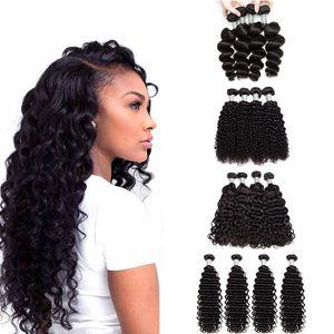 Onda sciolta non trasformata Kinky Wave Acqua Acqua Onda profonda Eonda Deep Human Hair Deep Extensions Cheap Peruviano Malese Vergini Brasiliani Vergini Vergini Vergini