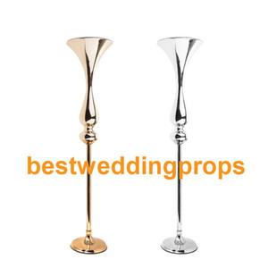 Vaso de Mesa de ouro Vaso De Flor De Metal Mesa de Centro de Mesa Para Mariage Metal Flores Titular Para Decoração de Casamento
