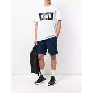 5 colores Venta al por mayor-Alta calidad Hombres / Mujeres MSGM Camiseta de verano Pareja Marca Letra Impresa Tops Camiseta de algodón de manga corta O-cuello