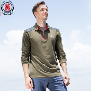 Herbst Langarm Marke Polo Shirts Männer Reißverschlüsse Stehkragen Casual Camisas Baumwolle Männlichen Polo Shirt Heißer Verkauf Tops
