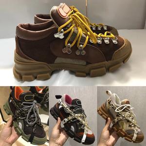Chaussures de montagne pour hommes Escalade en cuir Flashtrek avec cristaux amovibles Trekking Boot Baskets en cuir véritable W1