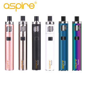 Nuevos colores Aspire Pockex Aio Kit de inicio del arco iris / azul con 1500mah original incorporado en la batería de bypass kit de la pluma vaporizador de salida 100%