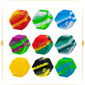 High-quality FDA Silicone Honeybee Hexagon 26mL Silicone Container Jars Dab for Vaporizer Oil Wax Crumble Storeage Shipping Free