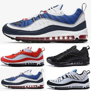Nike air max airmax 98 shoes New Fashion Classic Style Scarpe da uomo Scarpe sportive autentiche Air Cushion High Top Sneakers Scarpe da corsa Size36-45