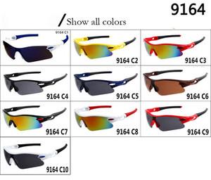 Modell 9164 Designer Marken-Sonnenbrille Männer und Frauen im Freien Sport Dazzle Farbe quadratischer Gläser Eyewear Kühlen Sun-Glas 10 Farben
