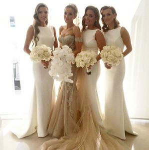 Элегантный простой невесты Платья длинные 2018 рукавов развертки поезд Jewel шеи вечерние платья фрейлина платья арабские платья партии