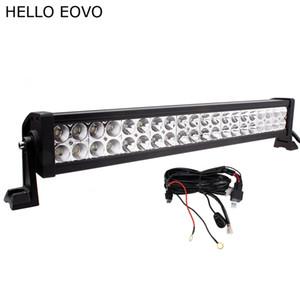HELLO EOVO 22 pulgadas 120W LED barra de luces + kit de cableado para los indicadores trabajo de conducción off-road bote del carro del carro 4x4 SUV ATV niebla Combo