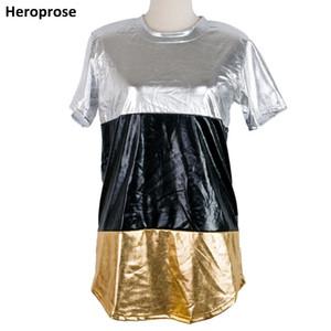 Heroprose erkekler t shirt moda 2018 Unisex hip hop Lengthen Yan Fermuar Streetwear yaz Kısa Kollu Elbise Tee