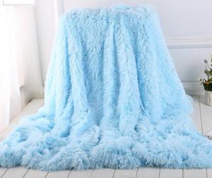 لينة طويل أشعث بطانية غامض فو الفراء دافئ أنيق دافئ رقيق رمي السرير أريكة بطانية متعدد الألوان