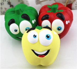 30 unids divertido Vegetal Squishies Chilli Squishy Pimienta Jumbo Slow Rising Squeeze Fruta Verde Juguete Simulación Chili Y123