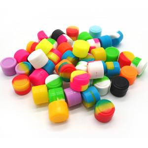 Varios colores 2ML baratos Cera Hierba seca Frascos Dab Forma redonda Fábrica de contenedores de silicona precio al por mayor