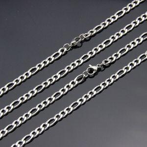 Prezzo all'ingrosso di fabbrica 4MM in acciaio inossidabile Figaro Collana a catena Lunghezza 50 55 60 70CM Fashion Cool Party Jewelry Top Quality Spedizione gratuita