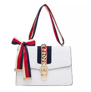 Nuevo bolso de las mujeres de la cerradura Bolsas de mensajero de las mujeres del cuero de la PU de la alta calidad Bolso de Crossbody ocasional a rayas Starp Satchel Bolsa Feminina