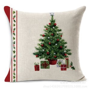 Новый дизайн Веселых рождественские украшения для дома декоративных Throw Наволочки Green Trees подарки Подушка Капа Para Almofadas