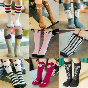 Envío gratis Baby Girls calentador de la pierna Fox Cotton Cute Little Character Calcetines hasta la rodilla Ropa para niños unisex Toddler Boot Socks Cartoon