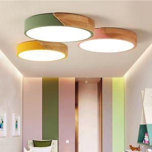 2018 Macaroon levou luzes de teto quarto moderno com cor polarizador lâmpadas luminárias criança luminária lampe deco Corredor