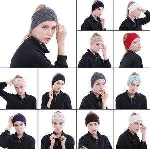 13 colori a maglia a fasce per donna orecchie invernali orecchie fasce a collaborato a maglia a testa di testa a testa di testa a testa crochet accessori per capelli cca10381 100pcs