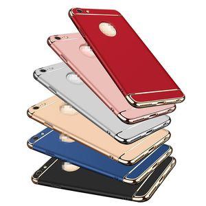 3 in 1 Arka Kapak Iphone X 6 6 S 7 8 Artı Kılıf Anti-şok Shell kılıf iphone X Elektrolizle
