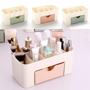 Multi-función de cajón de ahorro de espacio de cosméticos caja de almacenamiento de cosméticos Organizador de maquillaje de escritorio de la oficina de almacenamiento Bin organización de la casa WX9-258