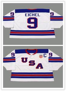 Personalizado 9 JACK EICHEL 2014 EUA Retro Vintage Hóquei Jerseys Mens Costurado Esportes Uniformes Bom Quanlity Ordem Da Mistura