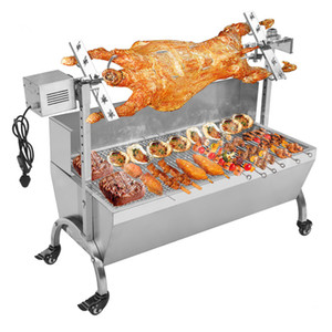 Free Shipping 2018 Fully Automatic BBQ Roast Lamb Roast Whole Sheep Roast Turkey Chicken Duck Fish Various Vegetables