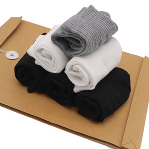 10 paires de chaussettes noires pour femmes Polyester longues chaussettes blanches pour filles unisexe thermique pour 4 saison femme 3d chaussettes imprimées Sokken