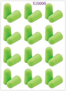 [Vida Saudável] 10000Pcs Verde Tampões de Ouvido de Espuma Macia Ear Plugs Cônicos