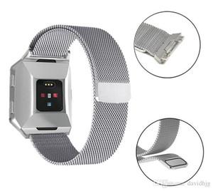 마그네틱 Milanese 루프 손목 스트랩 링크 팔찌 Fitbit 이온 조절 스테인레스 스틸 밴드 큰 작은 벨트