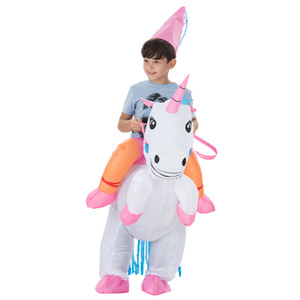 Carnaval de Noël Costume d'Halloween costume Costume Animal gonflable Cheval de Dinosaure Cowboy Licorne Costume Purim pour Enfants