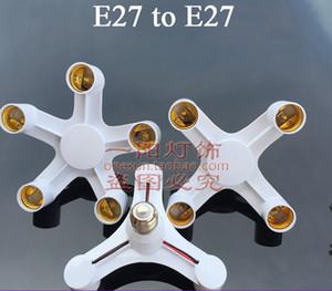 Yüzey için E27 Çok Başkanı Vida Lamba Adaptörü E27 Duy Dönüştürücüler Soket E27 ışıkları Monteli