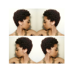 New Fashion hot selling short cut kinky curly Wig Simulation Human Hair curly full wig for women in stock