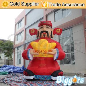 Outdoor di vendita caldo di promozione della decorazione gonfiabile Funtune nuovo anno Decorazione rossa di ricchezza Dio per l'attività pubblicitaria