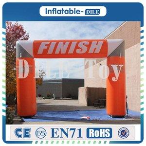 0.55mm PVC durable arc ligne d'arrivée gonflable avec arc publicité gonflable logo personnalisé arche gonflable du ventilateur libre
