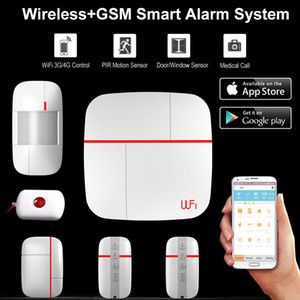 Wireless WiFi + GSM Home House Alarm System Multi idioma Smart Security Burglar Inteligente Voice Prompt Alarm Sensor Kit