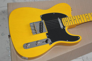 Fabrik kundenspezifisches freies Verschiffen Qualitäts-Gewohnheits-52 gelbe TL elektrische Gitarre Amerikanische Standardgitarre auf Lager 1027