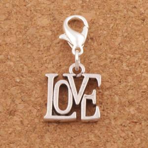Carta de amor abierta broche de langosta broche del encanto del grano 100 unids / lote 13.1x29.9mm joyería de plata tibetana DIY C970