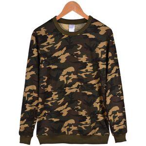 Hommes O-Neck Sweat à capuche manches longues T-shirt Femme Automne Soilid couleur Sweat Lovers Pulls à capuche Camouflage Casual 2XS-4XL