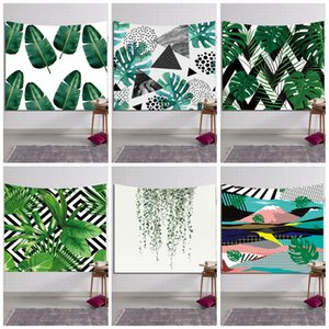 Полиэфирное волокно 3D пляжное полотенце удобные зеленые растения шаблон шаль для взрослых спорт йога коврик завод Прямые продажи 16ls B